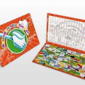 Miesięczny kalendarz szczotkowań pomarańczowy