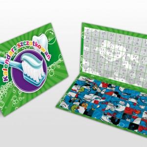 Miesięczny kalendarz szczotkowań zielony
